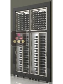Combination of four built in modular multi purpose wine cabinets CALICE
