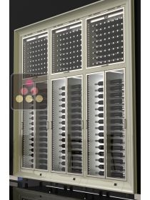 Combination of 6 built in modular multi purpose wine cabinets CALICE