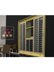 Combination of three modular multipurpose wine cabinets with storage unit  - built in CALICE DESIGN