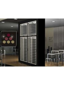 Combination of 4 modular multi purpose wine cabinets in an island unit CALICE