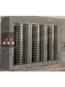 Combination of 3 modular multi purpose wine cabinets in an island unit CALICE