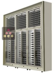Combination of 6 freestanding  modular multi purpose wine cabinets CALICE