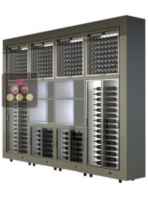 Combination of 8 modular multi purpose wine cabinets with storage units - freestanding CALICE