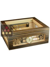Glass Cigar humidor ADORINI