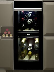 Dual temperature built in wine service cabinet - Right hinged NORCOOL