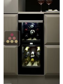 Dual temperature built in wine service cabinet - Left hinged NORCOOL