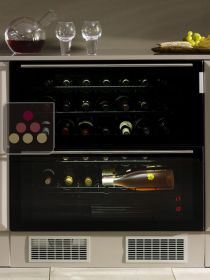 Dual temperature built in wine service cabinet with drawers NORCOOL