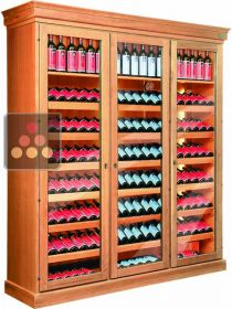 Triple temperature wine cabinet for storage and service  ELLEMME