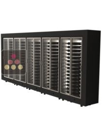 Combination of 5 freestanding modular multi purpose wine cabinets CALICE