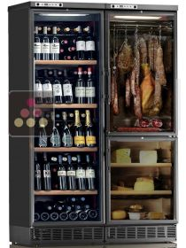 Combined built-in wine cabinet, cheese & cold meat cabinet CALICE