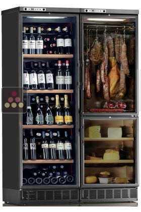 combined built in wine cabinet cheese cold meat cabinet calice aci cal746ev my wine cabinet