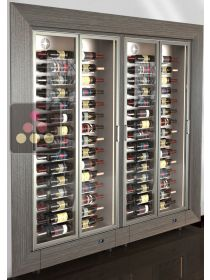 Combination of two modular built-in multi-purpose wine cabinets - Low depth CALICE DESIGN