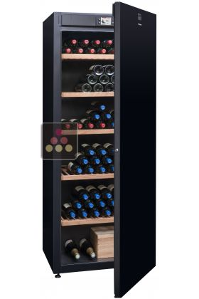 Single-temperature wine cabinet for ageing or service