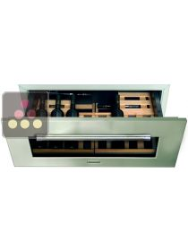 Single temperature built in Wine Cabinet with drawers for storage or service  KITCHENAID