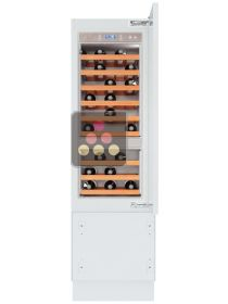Multipurpose built-in wine cabinet for ageing and service with tri-mode compartment KITCHENAID