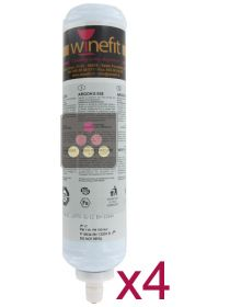 Pack of 4 Argon cartridges for Winefit distributor WINEFIT