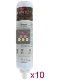 Pack of 10 Argon cartridges for Winefit distributor WINEFIT