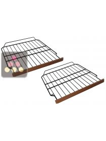 Set of 2 steel wire storage shelves with wooden front for ACI-CLI810 wine cabinet CLIMADIFF
