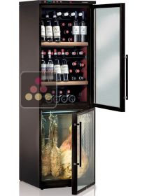 Combination of wine & delicatessen cabinets for up to 40Kg plus 120 bottles CALICE