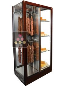 3-sided refrigerated display cabinet for storage or service of cheese and cold meat CALICE
