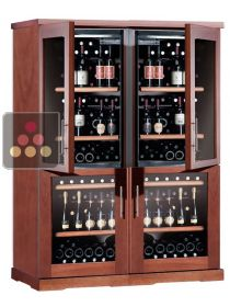 Combination of 4 single temperature wine cabinets for service or storage  CALICE
