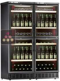 Combination of 4 single temperature wine cabinets for service or storage - free standing or built in  CALICE