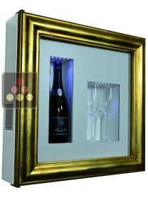 Single temperature silent refrigerated Champagne stand  for 1 bottle and 2 glasses CALICE
