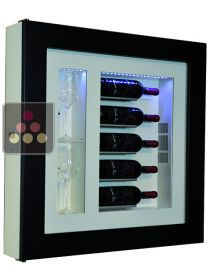 Single temperature silent refrigerated Champagne stand  for 5 bottles and 2 glasses CALICE