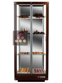 3-sided refrigerated display cabinet for chocolate storage CALICE DESIGN
