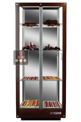 3 Sided Refrigerated Display Cabinet For Chocolate Storage