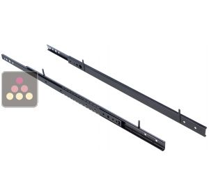 Set of 2 rails for 1 sliding shelf CLIMADIFF