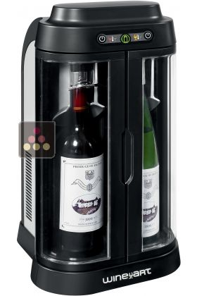2 bottles Wine Bar with storage of open bottles