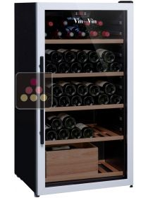 Multi-temperature wine service and storage cabinet VIN sur VIN