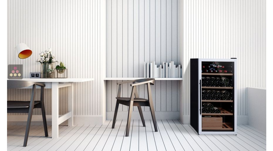 Multi-temperature wine service and storage cabinet
