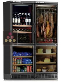 Built-in Combination of a Cheese Cabinet, a Delicatessen Cabinet and a Fresh Produce compartment CALICE