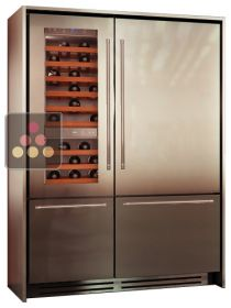 Combination of a Wine Cabinet, a Fridge and 2 compartments Tri-modes - Light Design KITCHENAID