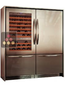 Combination of a Wine Cabinet, a Fridge with double compartment Tri-modes - Classic Design KITCHENAID