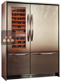 Combination of a Wine Cabinet, a Fridge and 2 compartments Tri-modes - Classic Design KITCHENAID