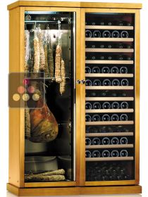 Combination of a Multi-temperature Wine Cabinet and a Single Temperature Delicatessen Cabinet CALICE