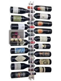 Wall Mounted Bottle Rack in Plexiglass for 18 bottles (optional lighting LED) SOBRIO