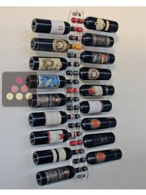 Wall Wine Rack in Clear Plexiglass for 18 bottles SOBRIO