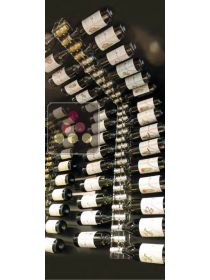 Wine Rack in Clear Plexiglass for wall and ceiling for 30 bottles SOBRIO