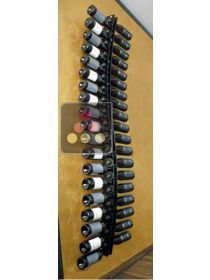 Wall Wine Rack in Clear Plexiglass for 38 bottles - (optional LED lighting) SOBRIO