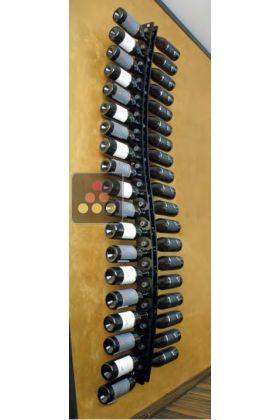Wall Wine Rack In Clear Plexiglass For 38 Bottles