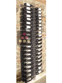 Wall Wine Rack in Clear Plexiglass for 76 bottles - (optional LED lighting) SOBRIO