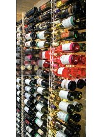 Wall Wine Rack in Clear Plexiglass for 114 bottles - (optional LED lighting) SOBRIO