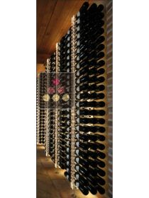 Wall Wine Rack in Clear Plexiglass for 138 bottles - (optional LED lighting) SOBRIO