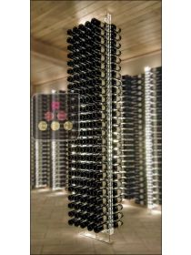 Free Standing Wine Rack in Plexiglass for 240 bottles - Height = 2700 mm (optional LED lighting) SOBRIO