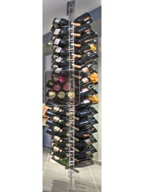 Free Standing Wine Rack in Plexiglass for 136 champagne bottles  SOBRIO