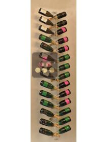 Wall Mounted Bottle Rack in Plexiglass for 28 champagne bottles - (optional LED lighting) SOBRIO
